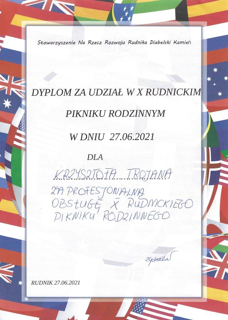 dyplom za udział